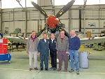 2009 - Pete Wallace, John Rogerson, Baz Hayman, Alic Prior and Jack Hawkins at the BBMF